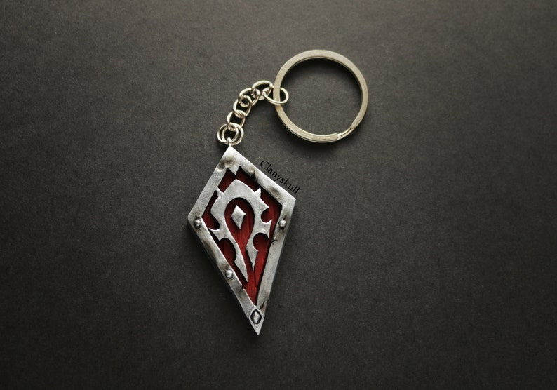 Horde keychain. World of warcraft. WoW. World of warcraft image 0