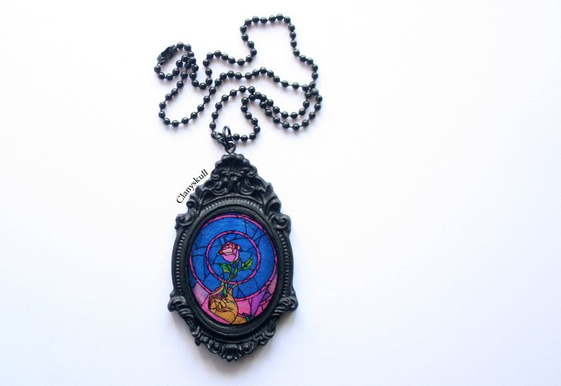 Beauty and the Beast necklace. Disney. The beauty and the image 0