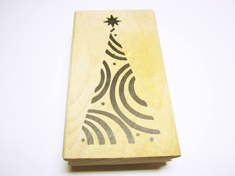 Christmas Tree Rubber Stamp Card Making Scrapbooking Rubber Etsy