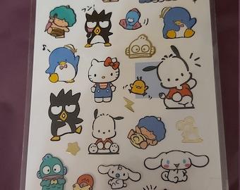 Sanrio Bad Badtz Maru Fluffy Stick-Ons Sticker New NIP