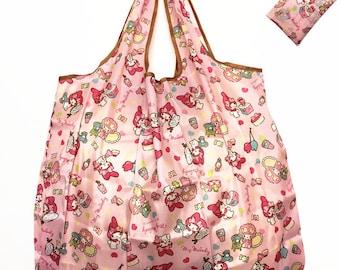 My melody Foldable Shopping Nylon Bag ~ Pink