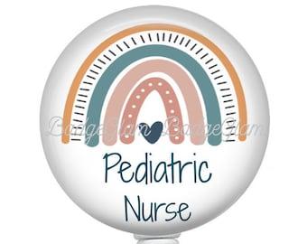 Retractable Badge Holder Personalized Badge Reel Nursing Badge Reel -Style 591 Floral Badge Reel Monogram Badge Reel