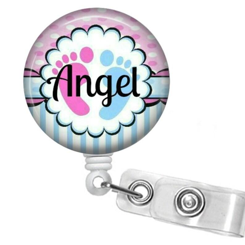 Badge Reel ID holder Name Badge Holder Nurse, Personalized Retractable ID Badge Holder Name Tag
