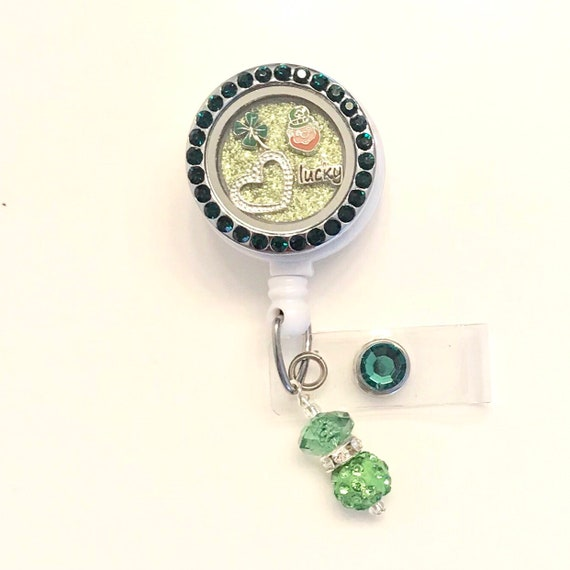 Patty/'s Day ID Badge I Pinch Back Badge Reel Glitter Badge Reel Patrick/'s Day Badge Reel ID Badge St Set of 1 St