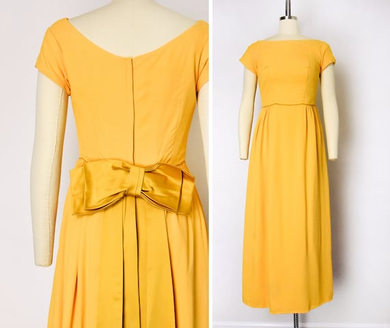 1960s Marigold Gown