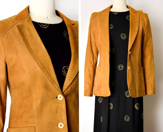 1970s Buttery Suede Jacket Size XS 70s Honey Brown