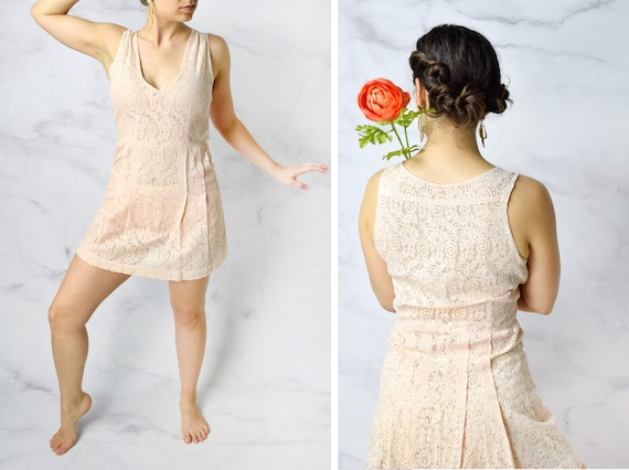 1930s Lace Step In Romper Lingerie Size Small