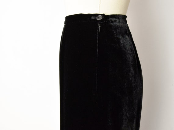 1990s Rayon Silk Velvet Trousers Size Small 90s V… - image 5