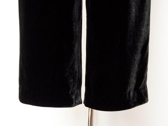 1990s Rayon Silk Velvet Trousers Size Small 90s V… - image 7