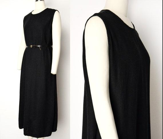 1990s Linen Easy Dress Size XL Minimalist Sleevele