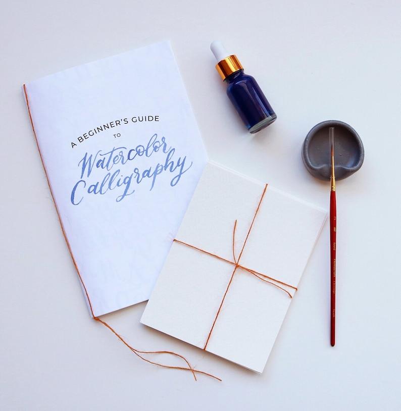 Watercolor Calligraphy Guide Digital Download