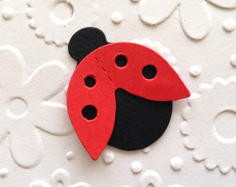 15 Cute Ladybug Ladybird Die Cuts for Children's Cards Card making Handmade Card Scrapbooking Craft Project
