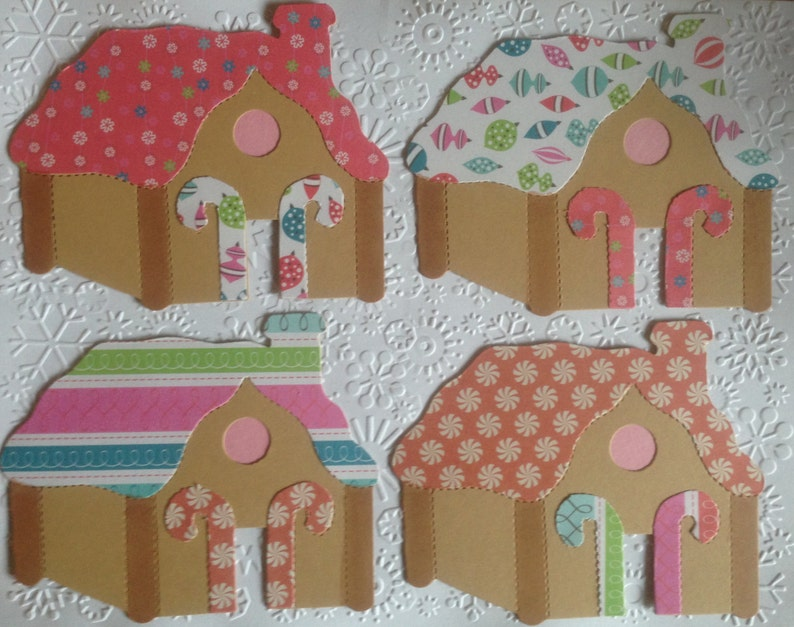 Super 4 Large Sizzix Gingerbread House Card Toppers For Christmas Festive Cards Card Making Scrapbooking Craft Project Download Free Architecture Designs Rallybritishbridgeorg