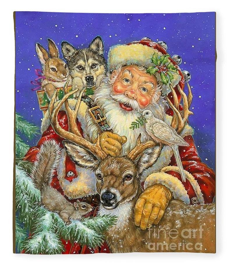 vintage Santa collage throw blanket,Christmas blanket gift,baby shower soft blanket Fleece plush blanket Christmas Santa collage