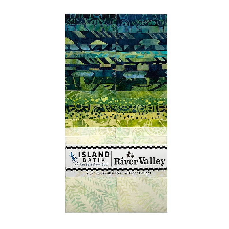 River Valley Batiks Island Strips Island Batik Fabrics 40 image 0