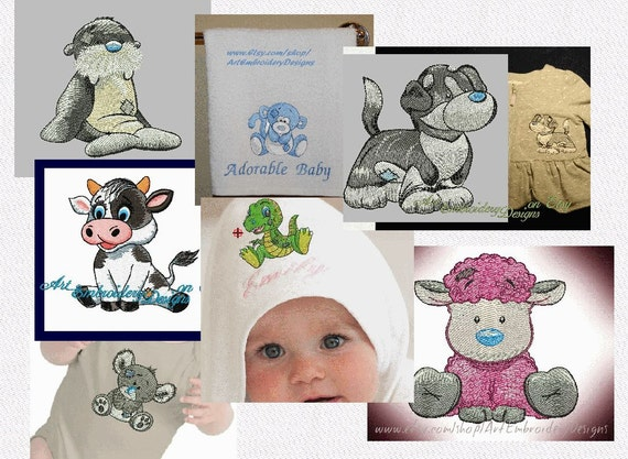 Sale Pack Of Seven 7 Old Toys Designs Machine Embroidery Etsy