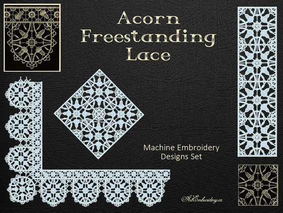 Acorn Elizabethan Style Freestanding Lace Embroidery Designs Etsy