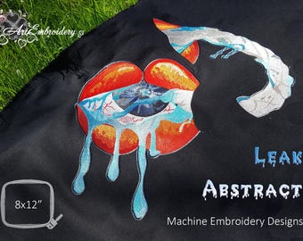 Leak Abstract - Machine Embroidery Designs