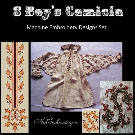 S Boy/'s Camicia Machine Embroidery Designs Set