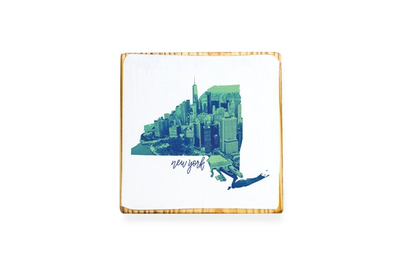 New York City State Map.New York City Ny State Map Illustration Series With Aerial Etsy