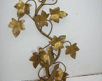 Vintage Italian Tole Wall Sconce/Candle Sconce/Candleholder/Shabby Cottage