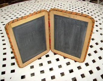 Antique Slate Double Chalkboard/Early 1900's W.S.Riddle Mercantile CompanySchool Chalkboard/Old Store Stock
