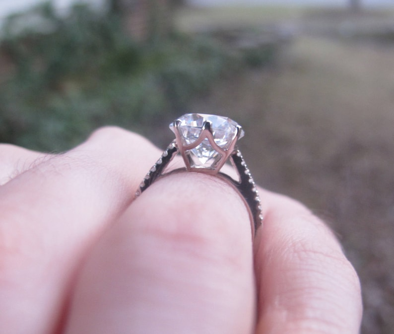 Image result for cathedral large diamond setting
