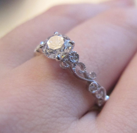 Verlobungsring Fassung Filigrane Diamant Ring Halb Mount In Etsy