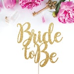 Bridal Shower Cake Topper, Bride to Be Cake Topper, Bridal Shower Decorations, She Said Yes, Engagement Party Decorations, Miss to Mrs