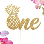 First Birthday Cake Topper, Pineapple One, Pineapple Cake Topper, Tropical Party Decorations, Aloha, Pineapple Decorations, Happy Birthday