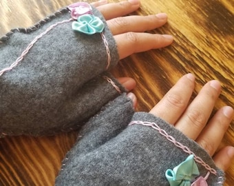 Upcycled Wool Hand Warmers