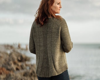KittyBea Knitting Pattern - Reid Pullover, Download ONLY