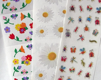 Mrs Daisies Photo Real Daisy Flower Grossman/'s Stickers 4 Strips