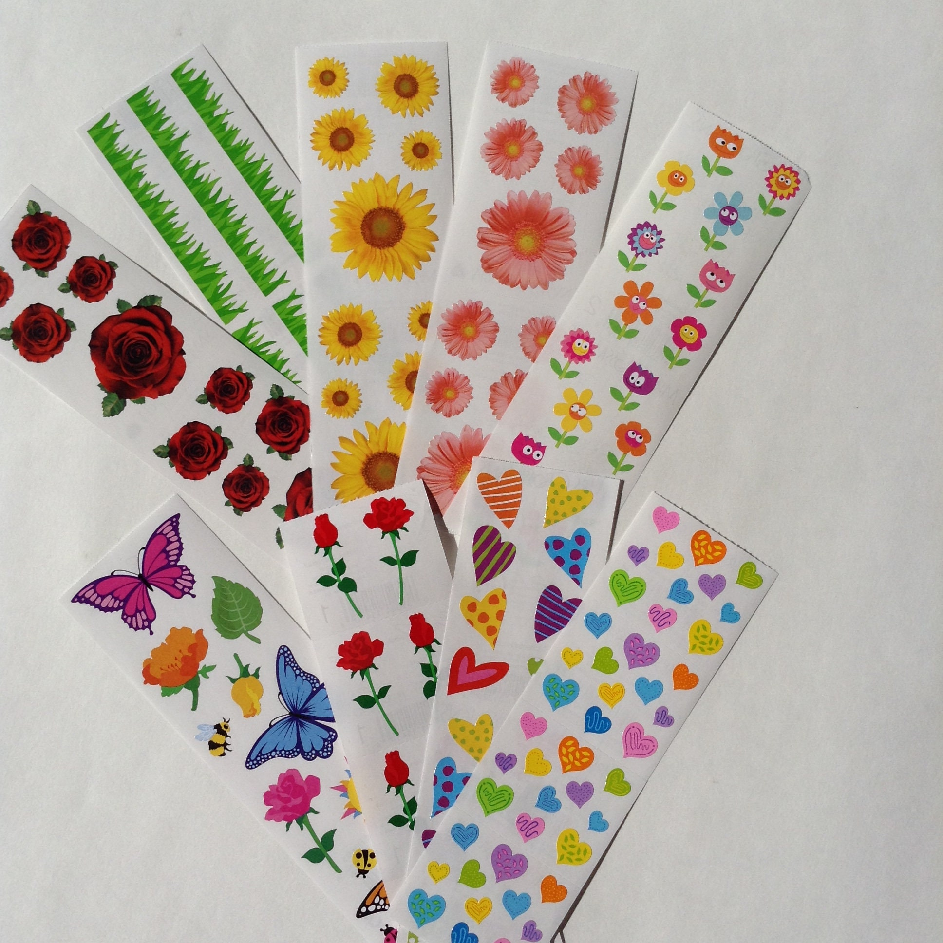 Strip of Lovely Butterfly Stickers/' Mrs Grossman BUTTERFLIES AND FLOWERS