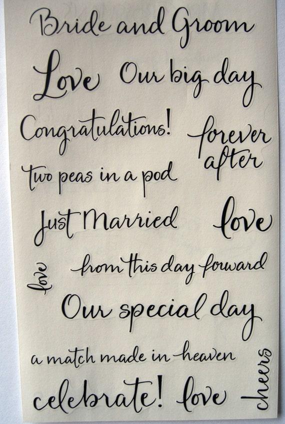 Wedding Scrapbook Stickers Elegant Stickers For Bride Bridal Etsy