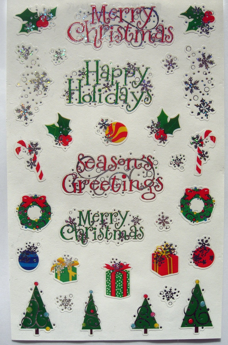 Mrs Grossman/'s Tiny Colorful Christmas Ornaments Scrapbook Stickers 3 Strips