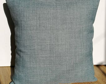 Blue/Grey handmade envelope cushion cover (with pillow)