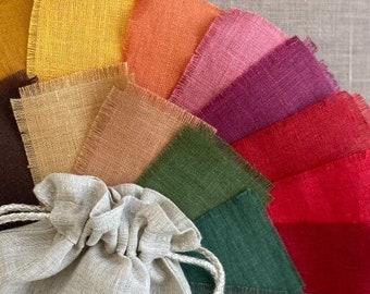 Organic linen napkins set. Eco friendly table decor cloth. Bulk wholesale napkin. Holiday gifts.