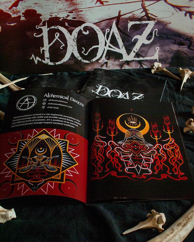 DOAZ Zine dark art occult art compendium zine zine image 0