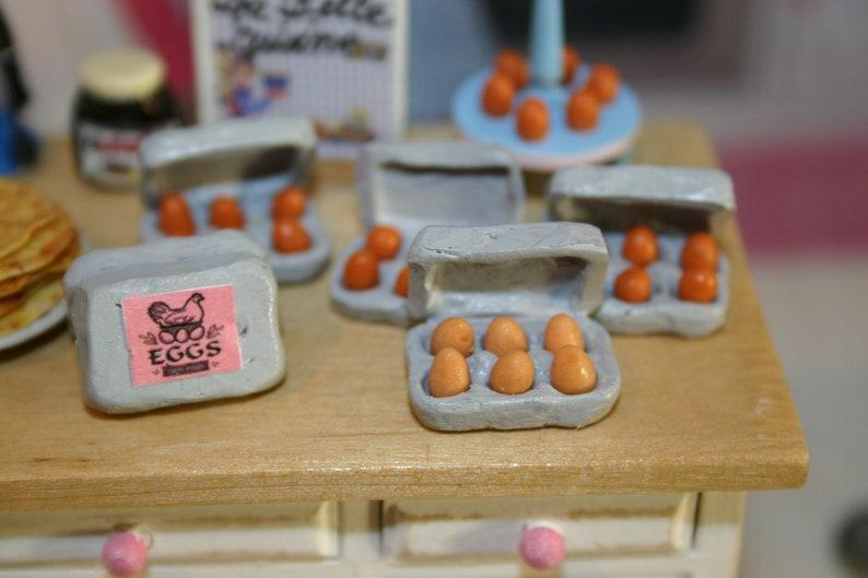 Carton Of Colored Eggs Dollhouse Miniature 1 12 Scale Kitchen