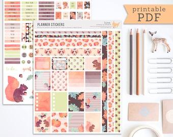 Planner Stickers. PDF Erin Condren Planner Stickers. PDF Planner Stickers. Autumn Planner, Fall Planner. Thanksgiving. Printable Stickers.