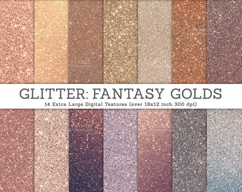 3 FOR 2. Glitter Texture Photos. Real Photograph of Glitter Paper. Ombre Rose Gold Bronze Silver Background Textures, DIY Craft Supply.