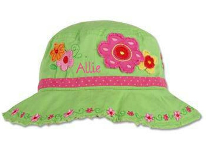 bf27fc39092 Personalized Girls Flower Sun Hat