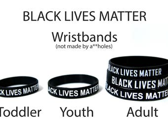 Black Lives Matter Wristband Adult, Youth, Infant & Extra Large Sizes Stickers