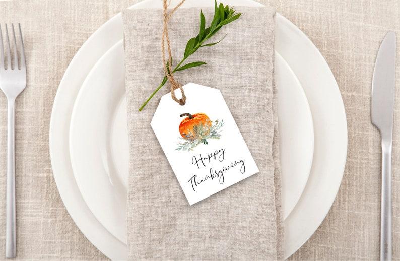 Printable Happy Thanksgiving Gift Tag  Happy Thanksgiving Tag image 0