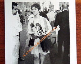 Signed & Dated Photo of Diane ARBUS 1967 by Fred GURNER NY Silver Gelatin Print