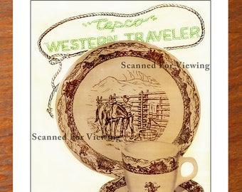 Rare TEPCO Restaurant Ware Catalog Artwork WESTERN TRAVELER + Price List