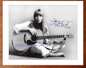 Signed JONI MITCHELL Photo - Singer Song-writer California Both Sides Now Repo great gift