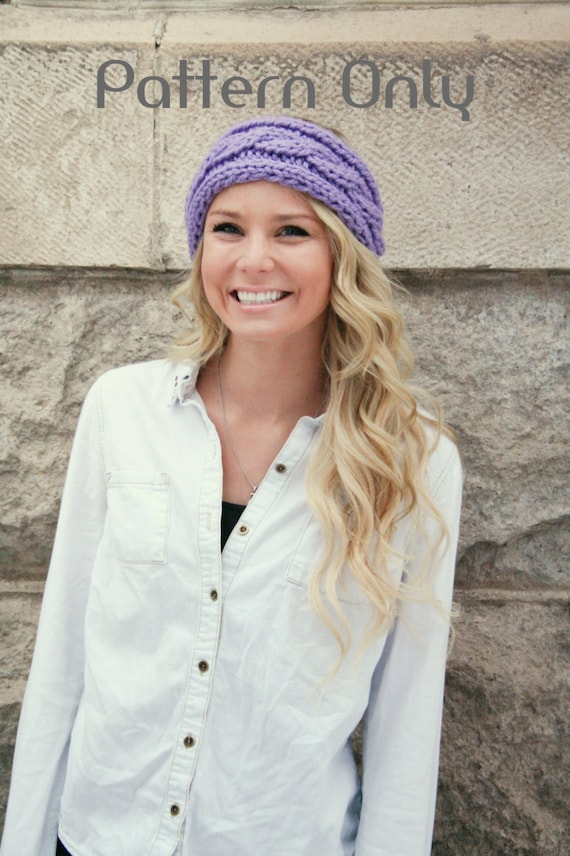 Knitting Pattern Headband Pattern Cable Knit Headband Cable Etsy