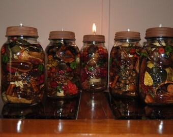 Artisan Mason Jar Oil Lamp